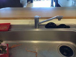 キッチン水栓交換施工前