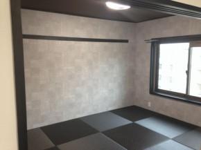 和室黒い畳