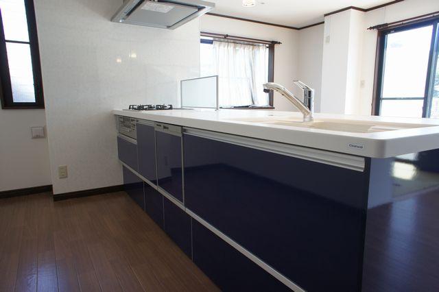クリナップラクエラ対面キッチン施工例
