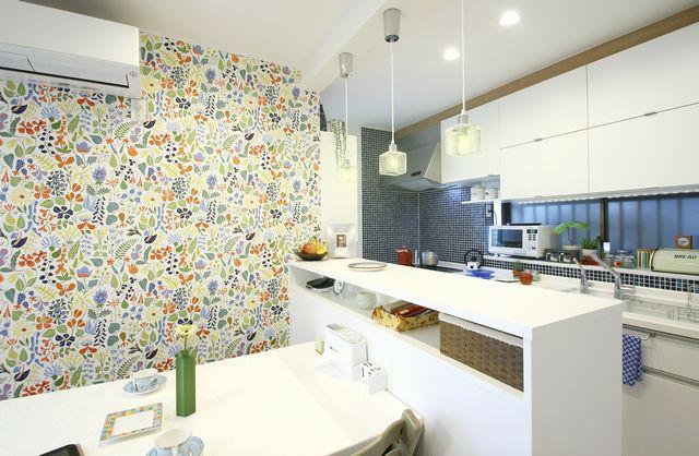 キッチンリノベーション WALPA 輸入壁紙