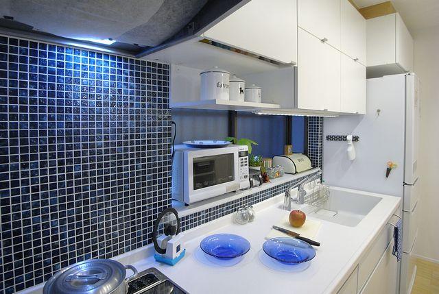 キッチンリノベーション モザイクタイル